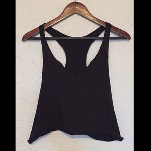 H&M rough edge cropped muscle tank top